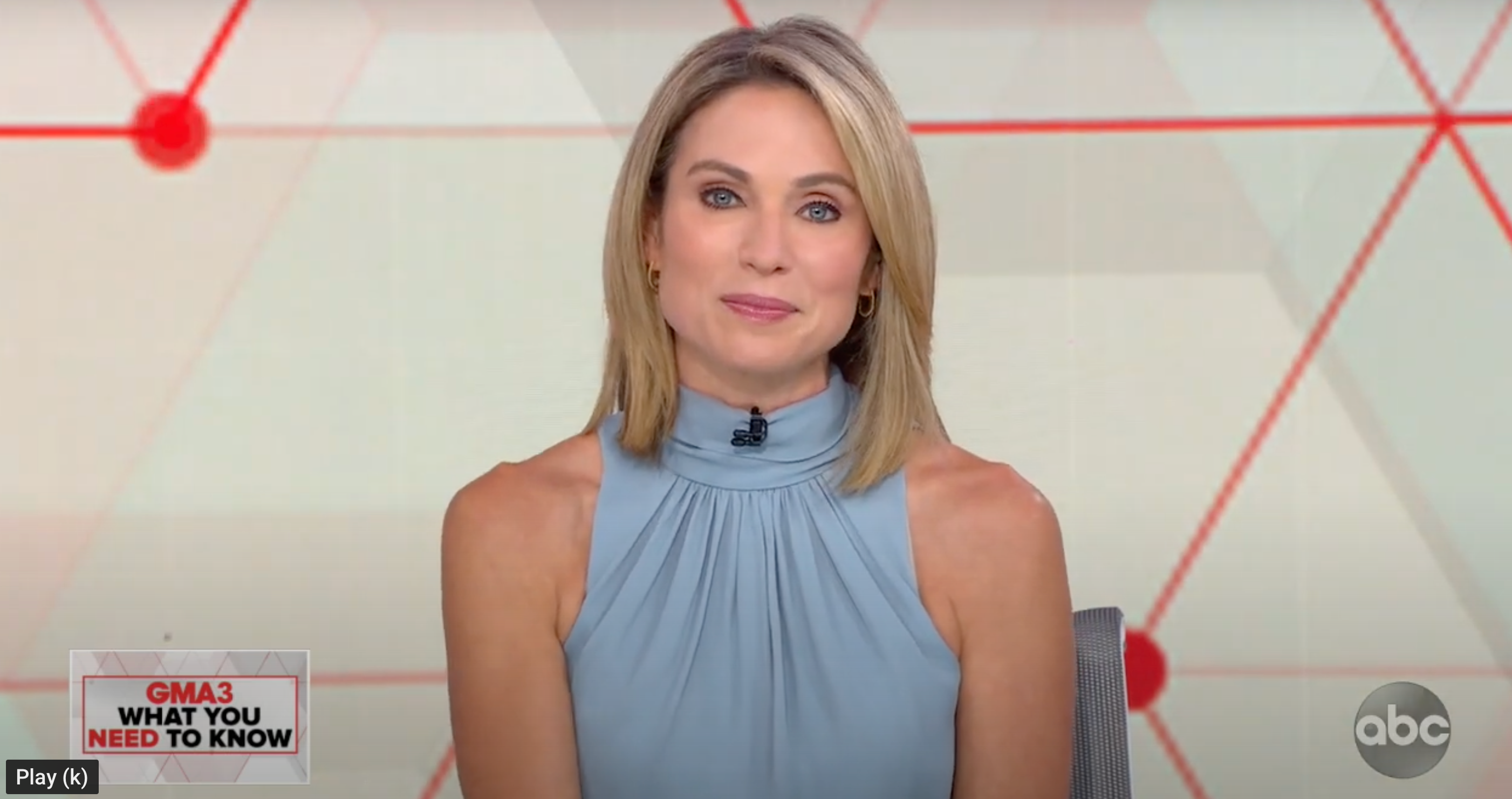 Amy Robach hoops on GMA