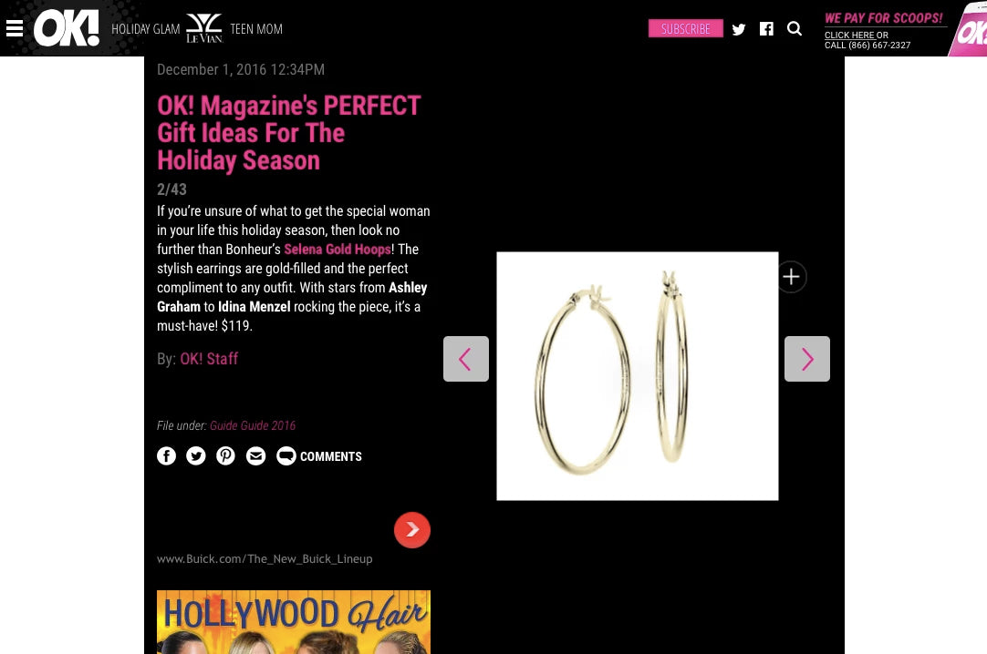 Gold-Filled Hoops Medium