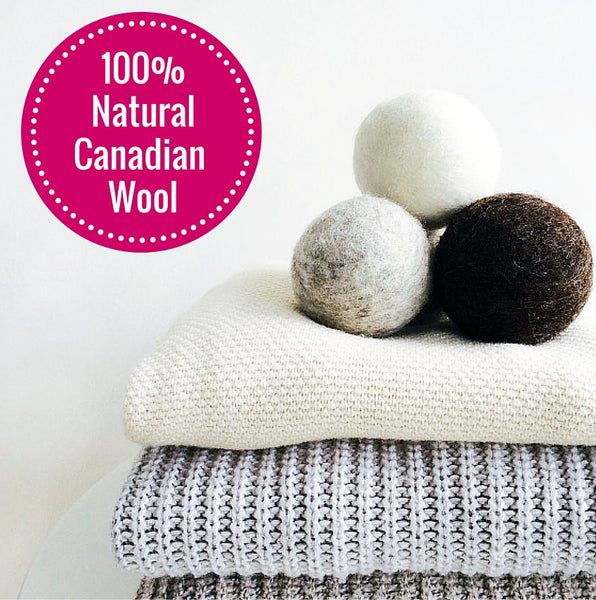 100% Canadian Wool Dryer Balls
