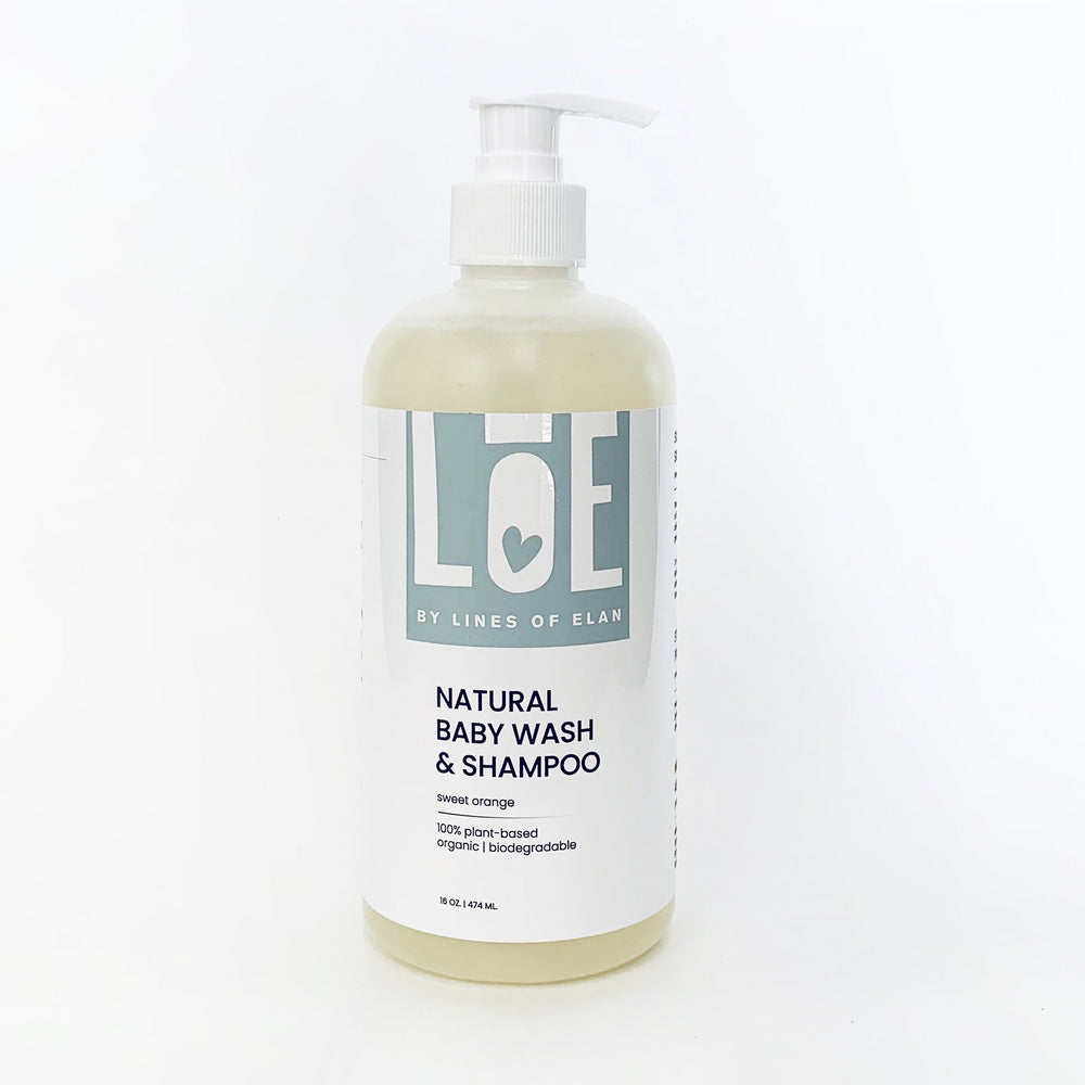 Natural + organic baby wash, lines of elan