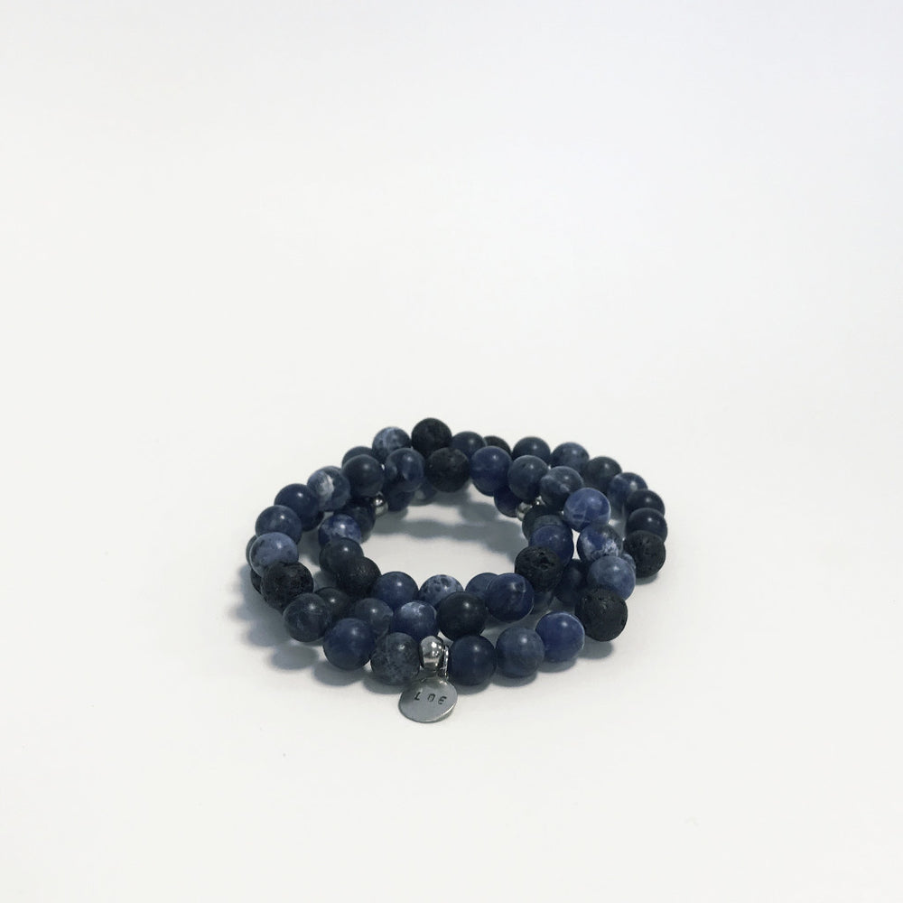 Sodalite and Lava Bracelet