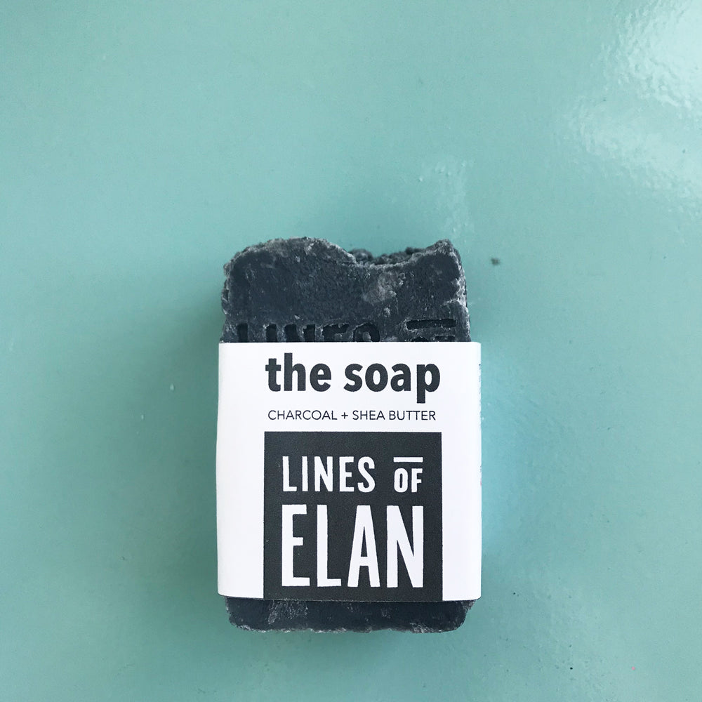 Charcoal Natural Bar Soap, Lines of Elan, Organic Soap