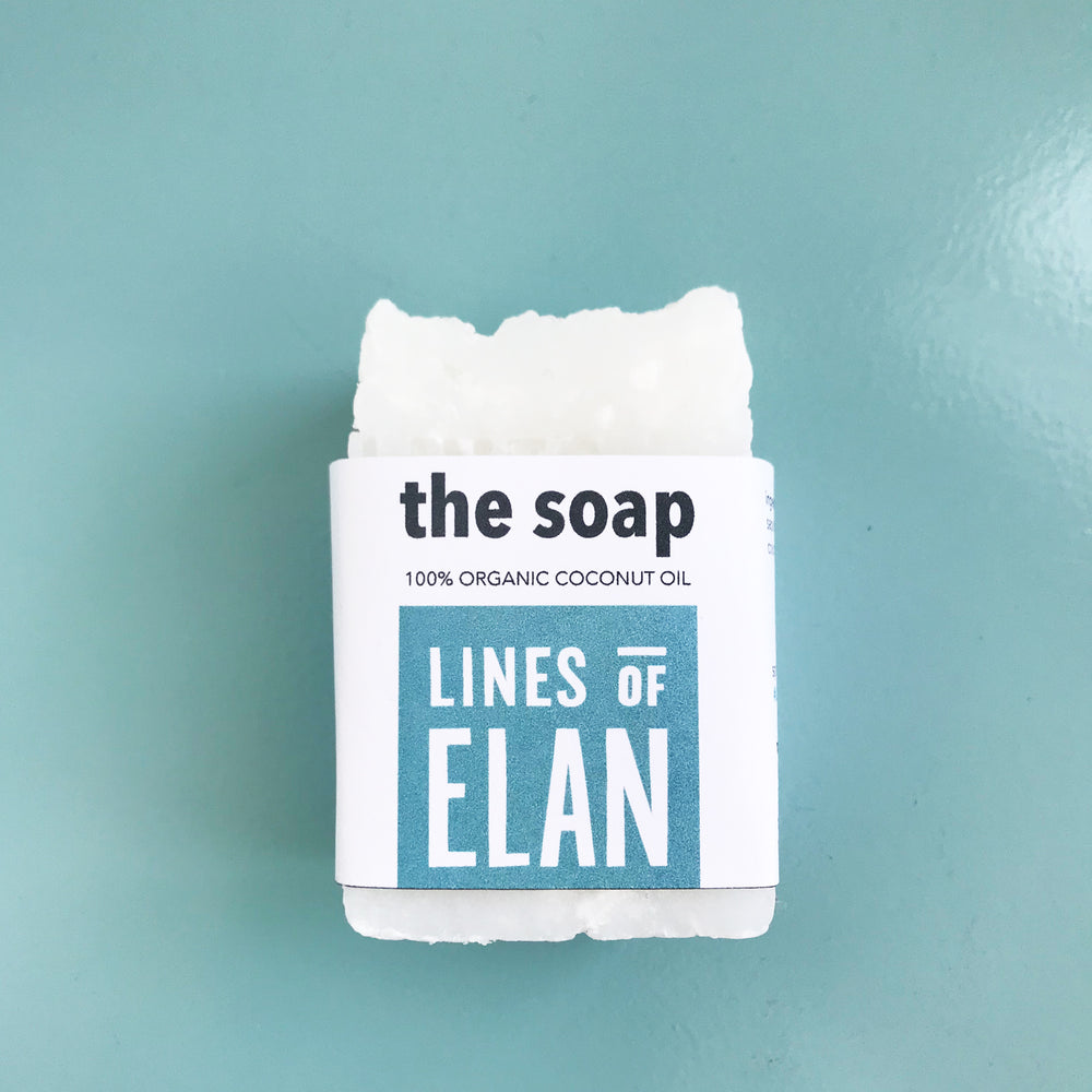 Natural Coconut Oil Bar Soap, Lines of Elan