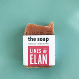 Pink Clay Natural Coconut Bar Soap, Lines of Elan, Organic Soap