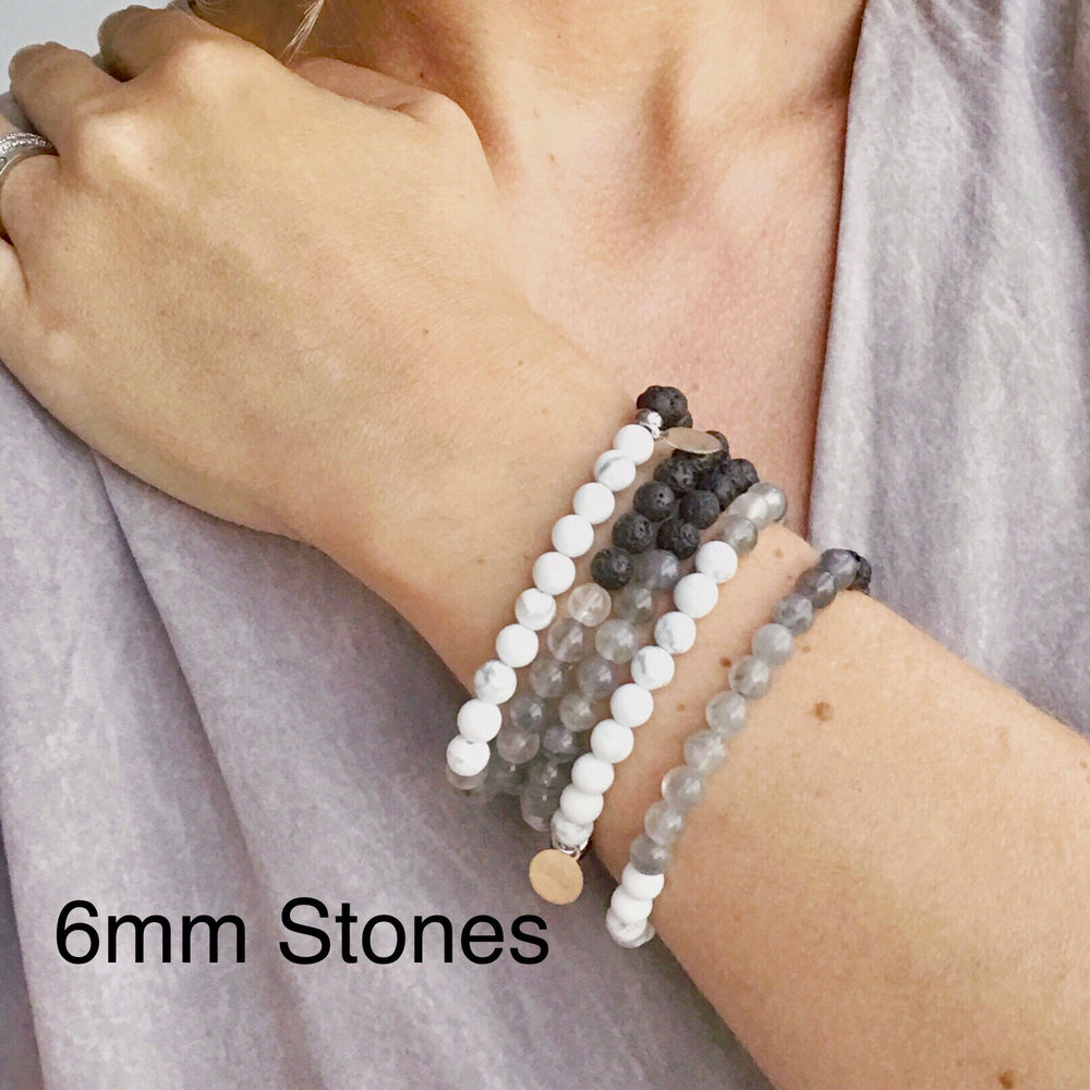 Shades of Grey Diffuser Bracelet
