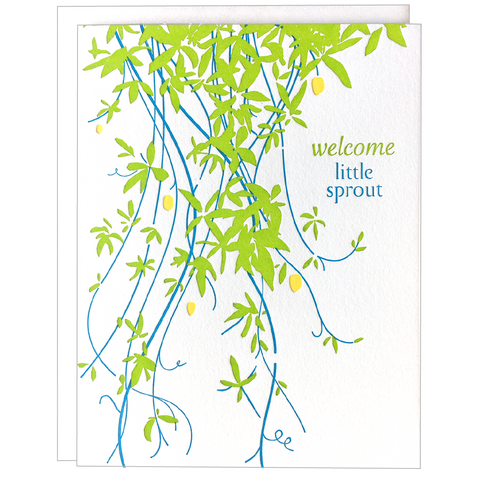 Vine Sprout Baby Card