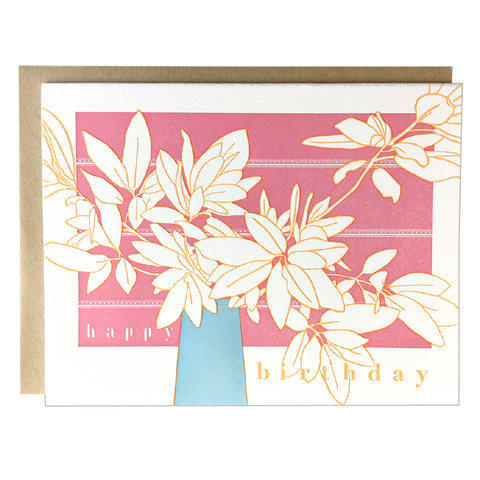 Foliage Bouquet Birthday Card