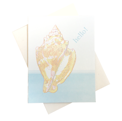 Conch Hello Card
