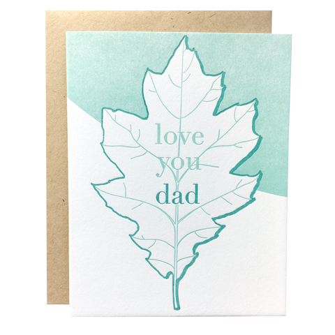 Oak Leaf Dad Card