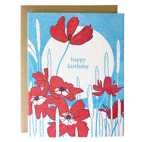 Anemone Birthday Card