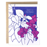 Bougainvillea Birthday Card