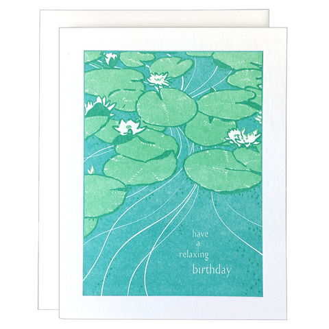 Lily Pond Birthday Card