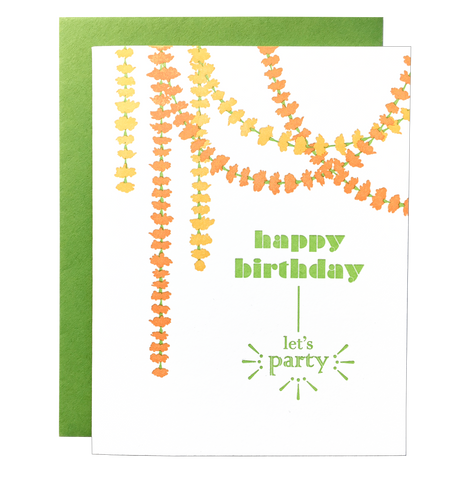 Marigold Garland Birthday Card