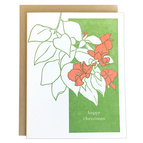 Bougainvillea Christmas Card
