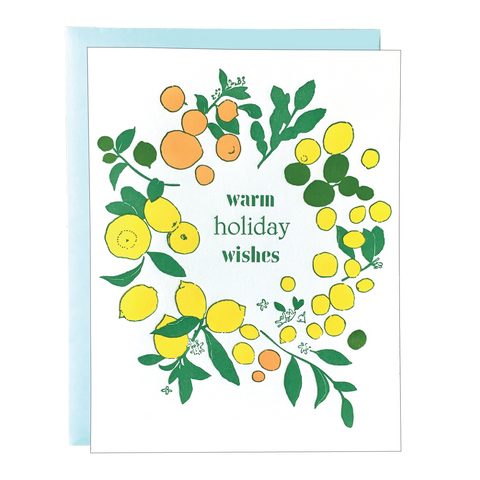 Citrus Wreath Holiday Card