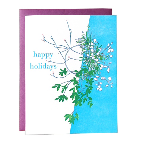 Modern Wreath Holiday Card