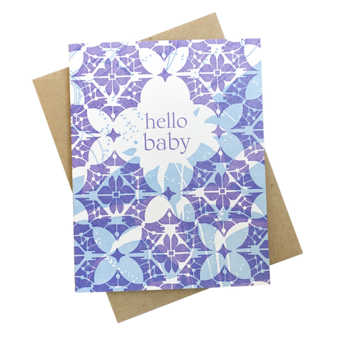 Lace Hello Baby Card