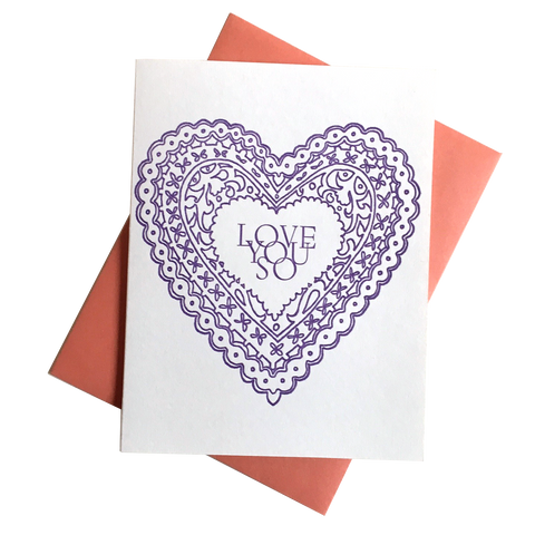Love You So Heart Card