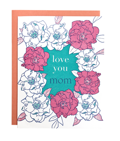 Rose Frame Mom Card
