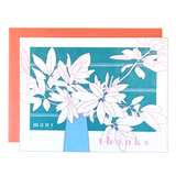 Foliage Bouquet Thanks Card
