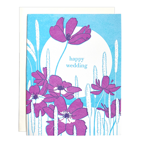 Anemone Wedding Card