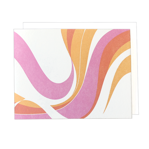 Fillmore Swirl Blank Card - Warm