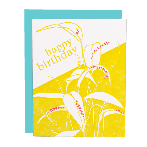 Bonnet Orchid Birthday Card