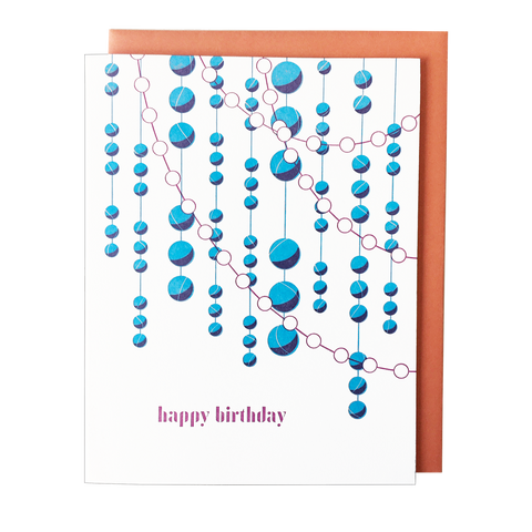 Waterfall Garland Birthday Card