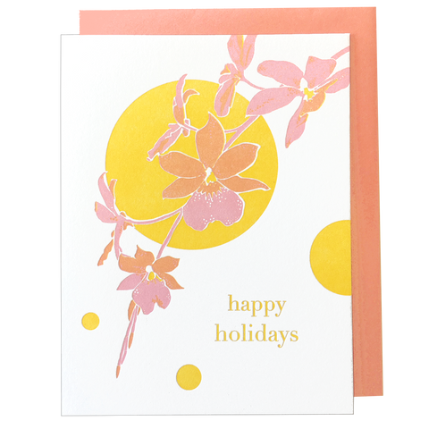 Orchid Holiday Card