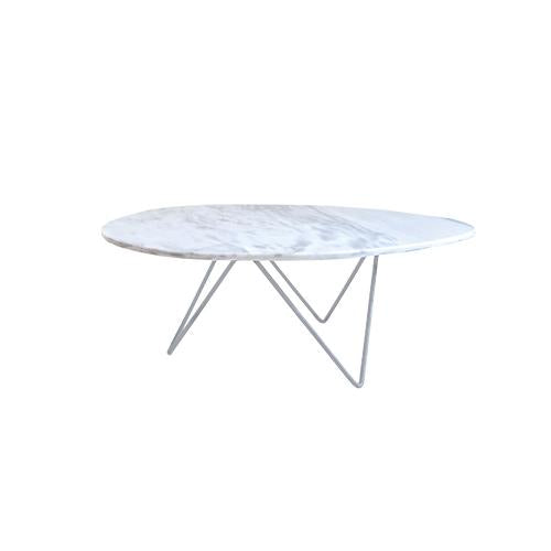 [VD] Replica Beleven Organic Coffee Table White (Chrome Leg)