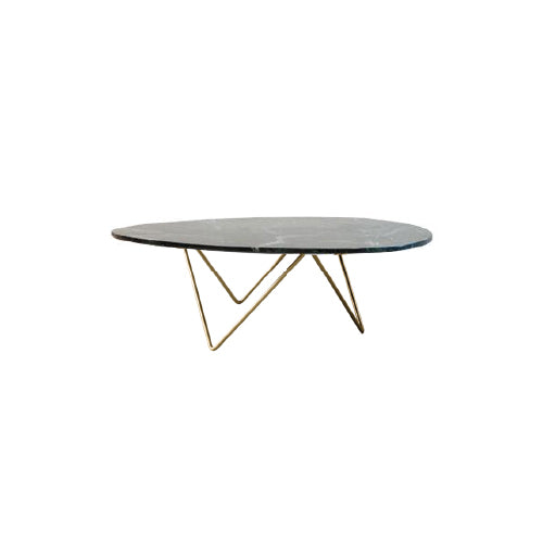 [VD] Replica Beleven Organic Coffee Table Green (Gold Leg)