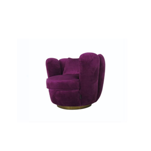 [AS] Scallop Lounge Chair Dark Purple