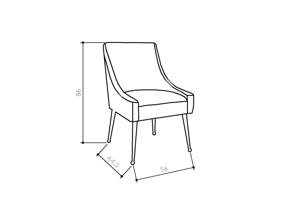 [BH] Replica Elowen Dining Chair Ocean