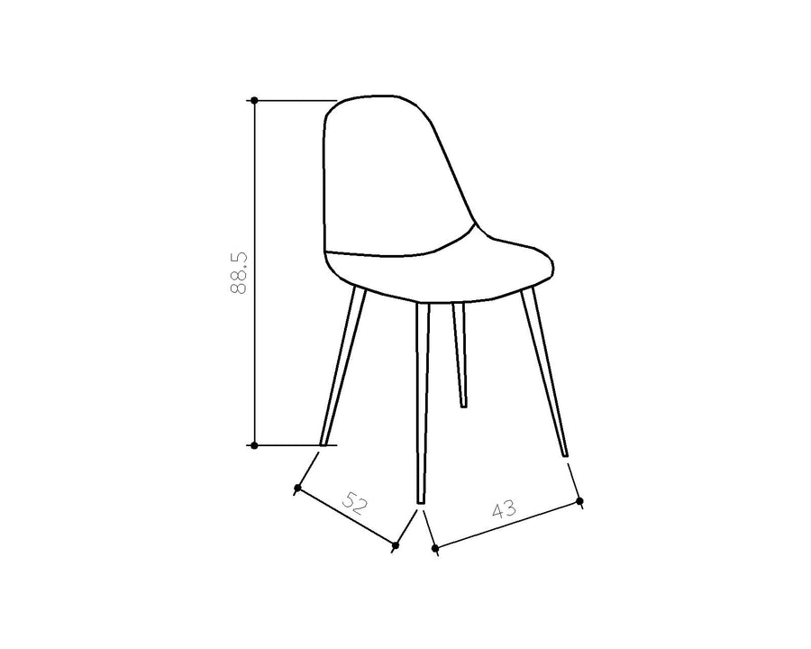 [DG] Replica Beni Pair Dining Chairs Ocean