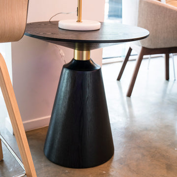 โต๊ะข้าง [TG] Replica Bell Wood Side Table Black
