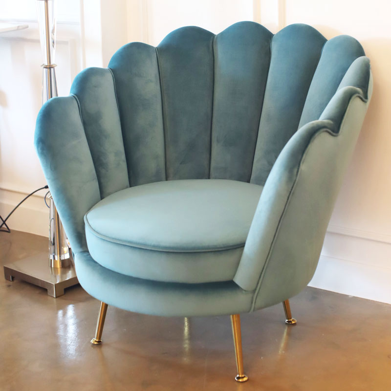[OF] Peacock Armchair Green