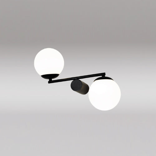 Double White Ball Wall Lamp
