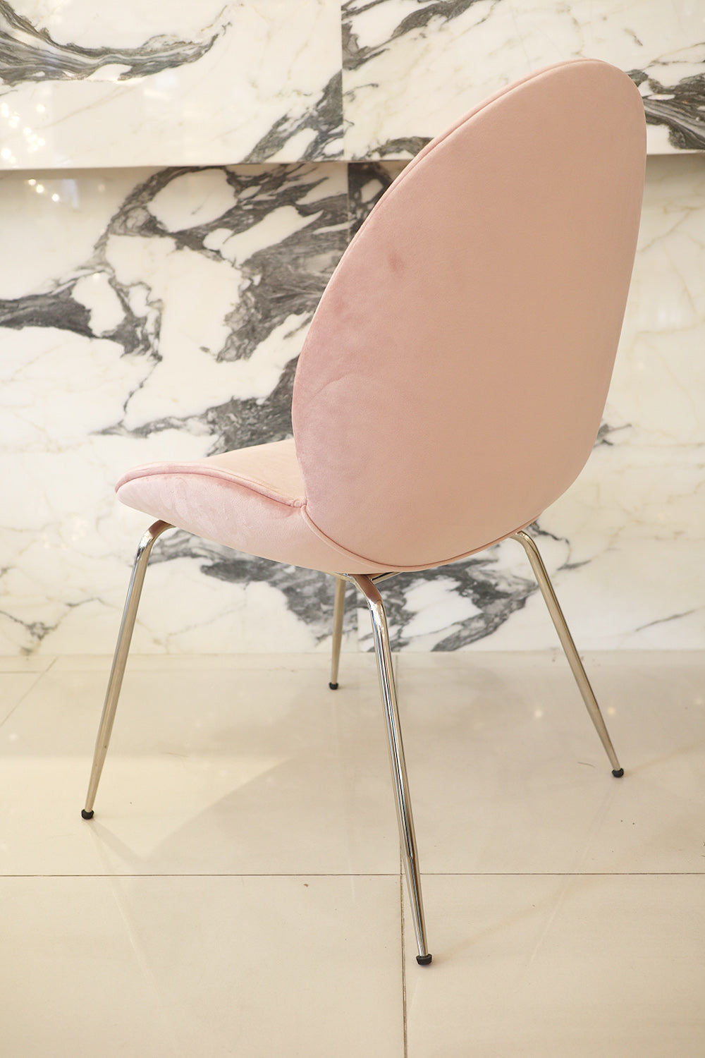 [TG] Replica Beetle Chair Pink (Silver Legs)