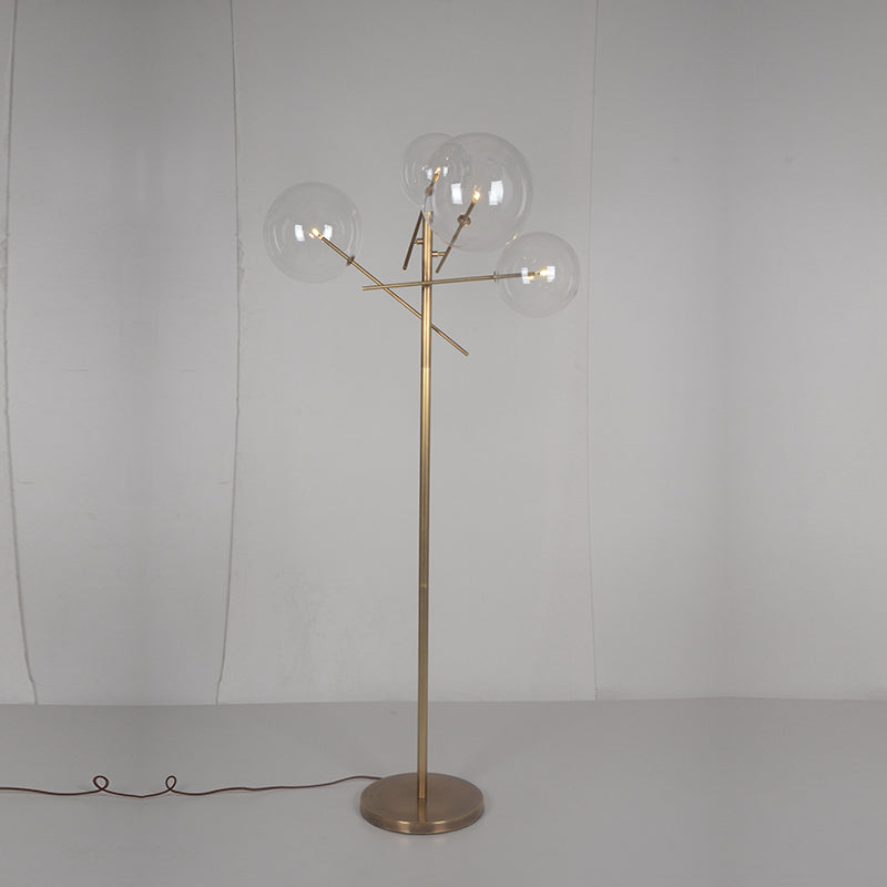 Replica Bolle 4 Floor Lamp Brass