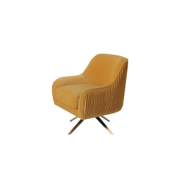 [OF] Pleated Lounge Chair Yellow