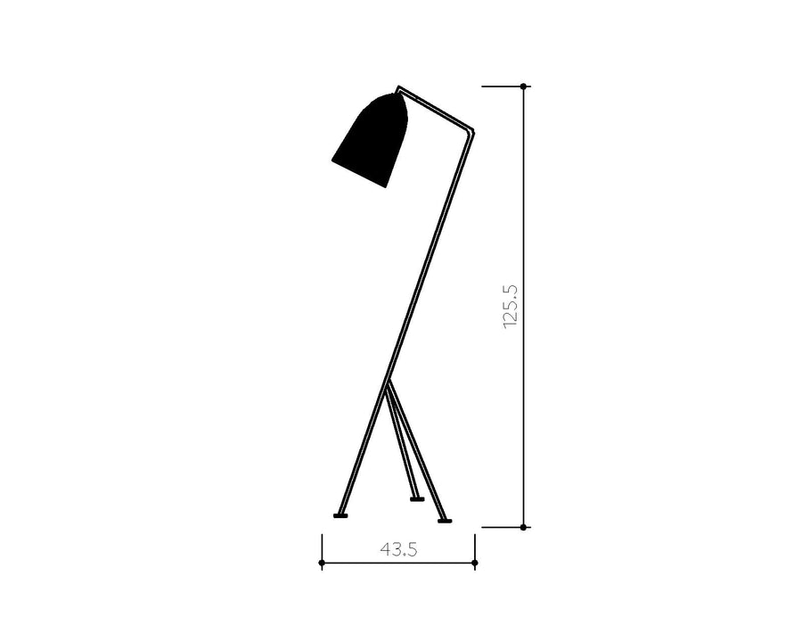 [BV] Replica Grasshopper White Floor Lamp