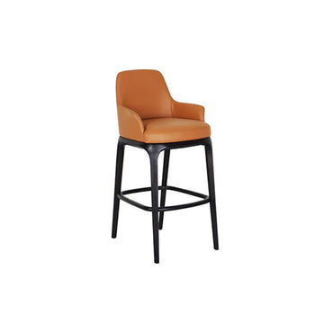 [SA] Ancil Bar Chair Brown