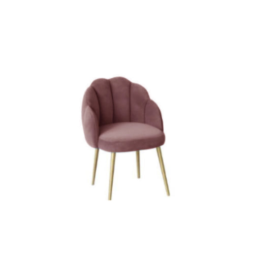 [BH] Replica Scallop Dining Chair Pink Nude