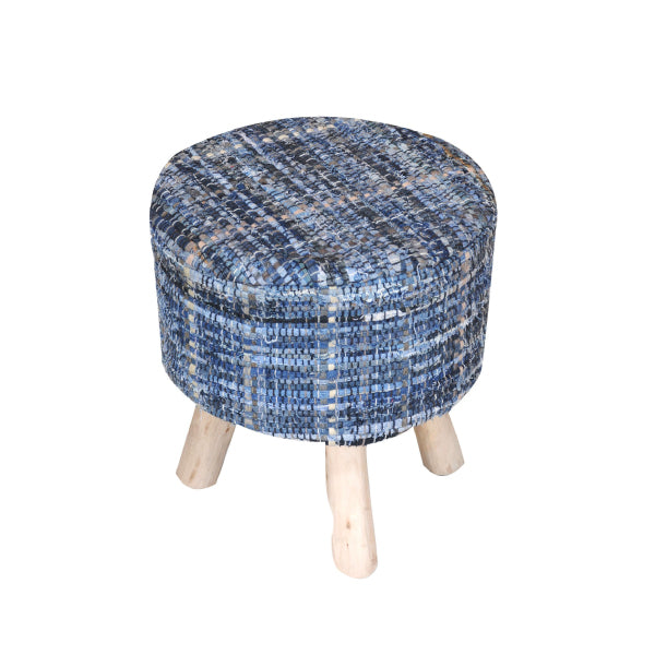 [RUG] Harris Round Stool Denim