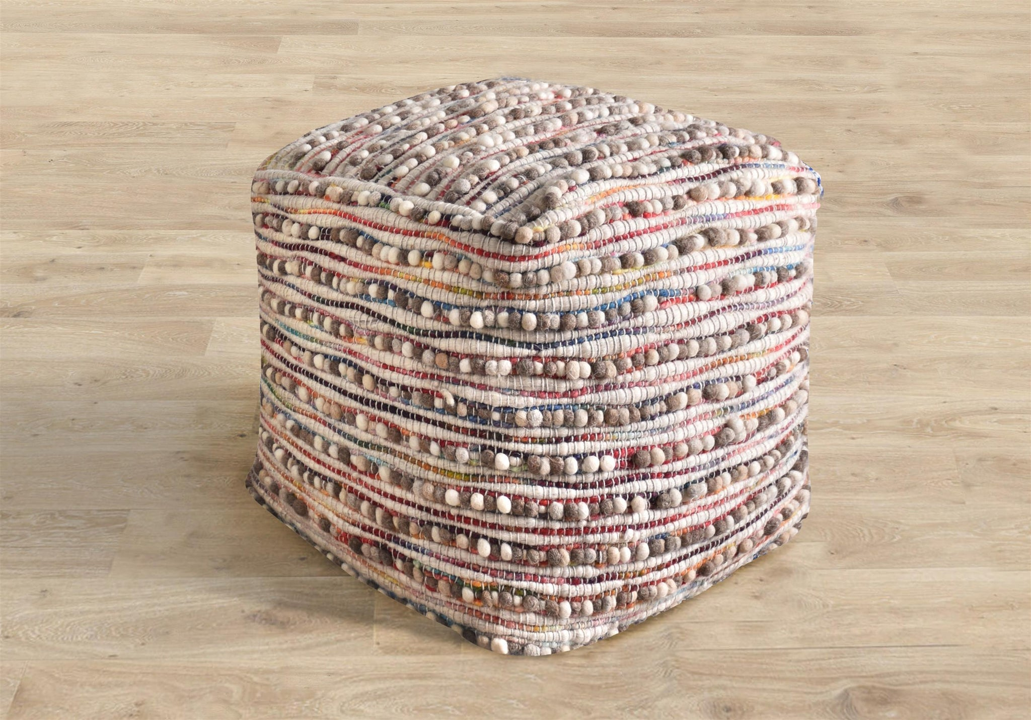 [RUG] Ascari Pouf Natural Multi