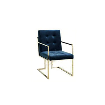 [DEFECT ITEMS] [TG] Replica Goldfinger Dining Chair (Arm) Navy