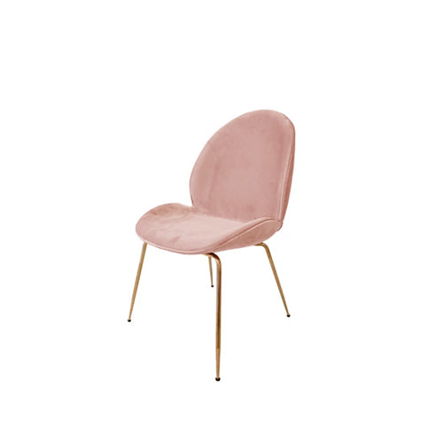 Tg Replica Beetle Chair Pink Rose Gold Legs Lounge