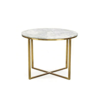 [DEFECT ITEMS] โต๊ะข้าง [TG] Replica Primo Side Table Round (Gold Leg)