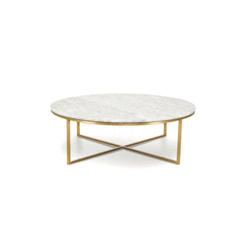 โต๊ะกลาง [TG] Replica Primo Coffee Table Round (Gold Leg)