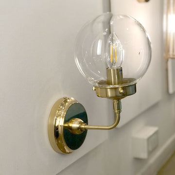 [ME] Dale Wall Lamp Brass Clear Bulb